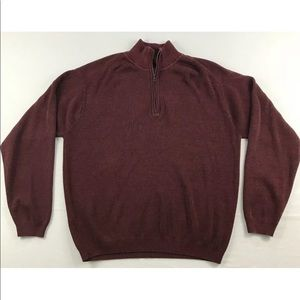Tommy Bahama Mens 1/4 Zip Pullover Sweater